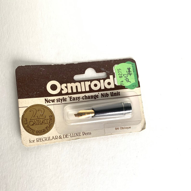 Vintage Osmiroid Nib  B4 Oblique Unit Nib  Fountain Pen Nib