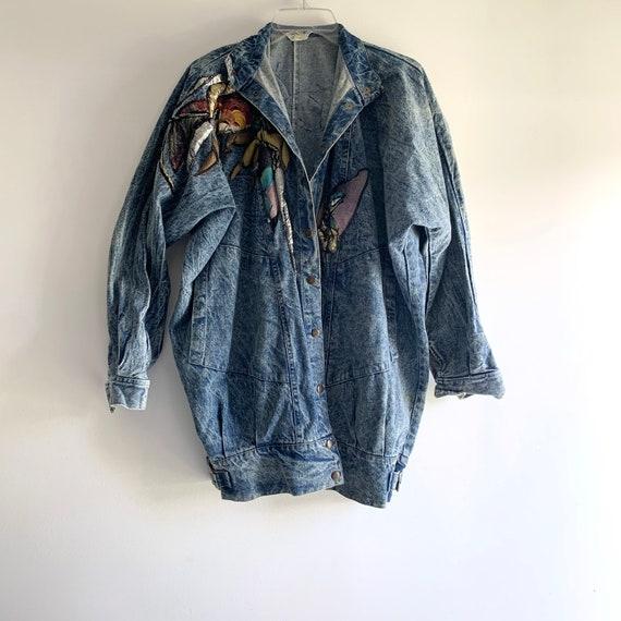 Denim Oversized Jacket / 80s Denim Jacket / 90s De