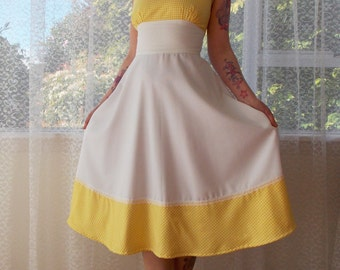6536c449652 1950s Pin up White Sundress