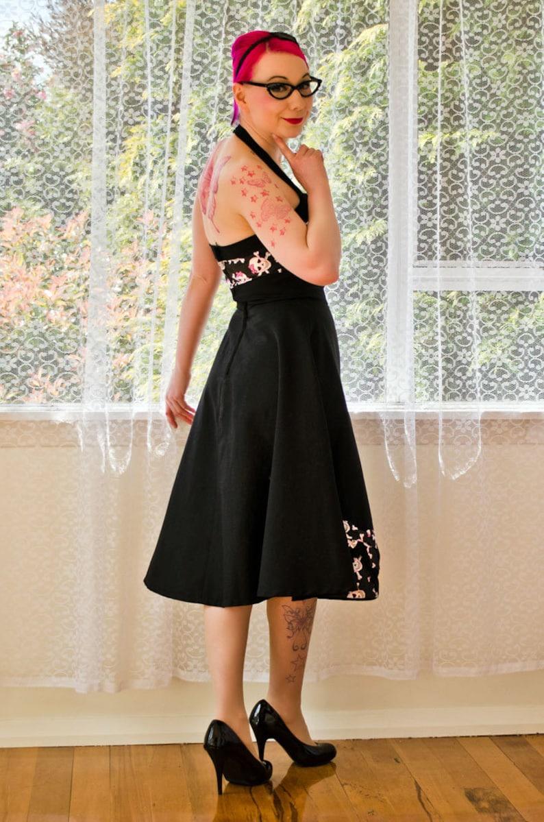 Vintage 1980s Pin Up Style Dress Vintage Pinup Dress 1980s