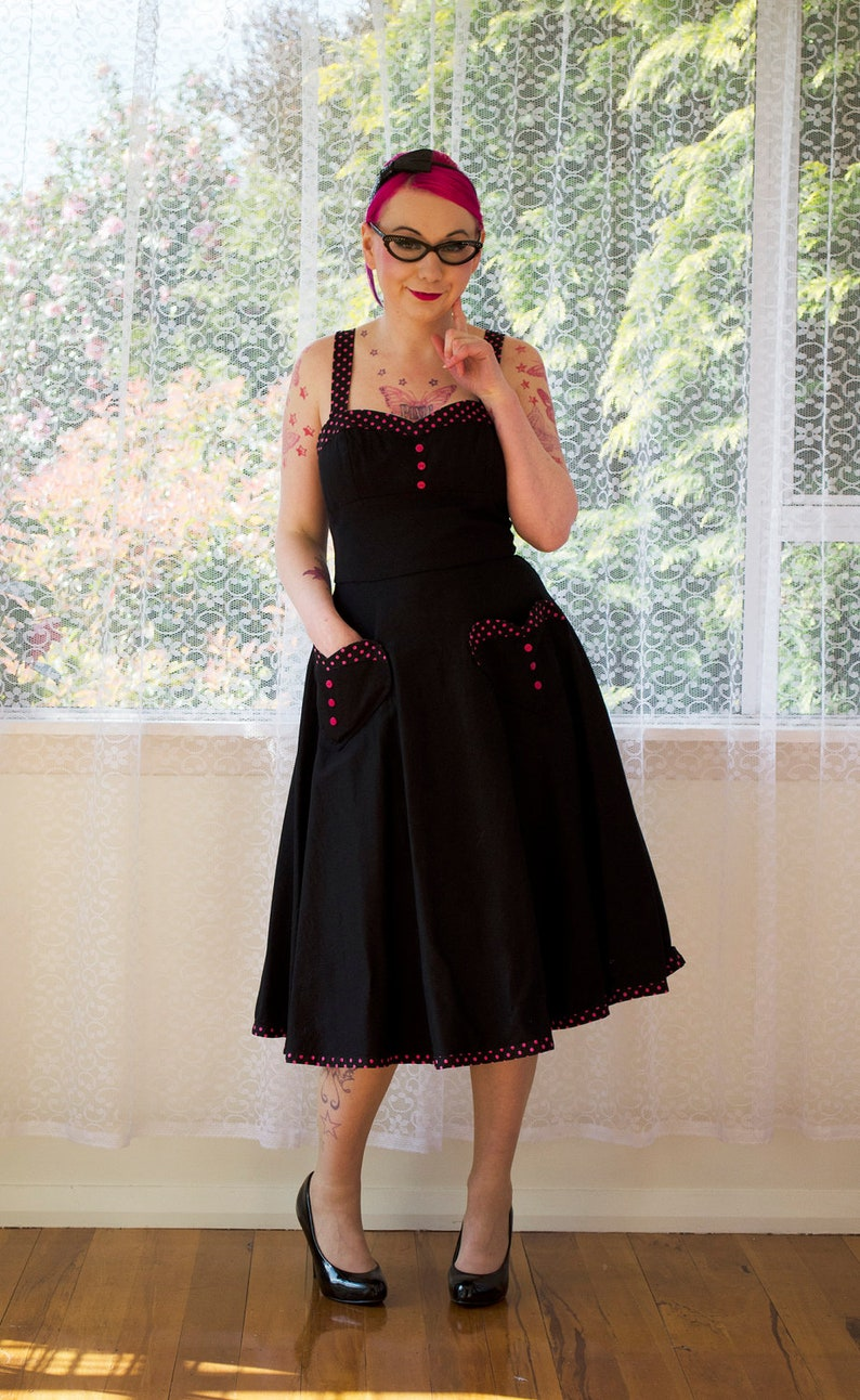 Pin Up 'Stephanie' Sweetheart Neckline Dress with a image 0
