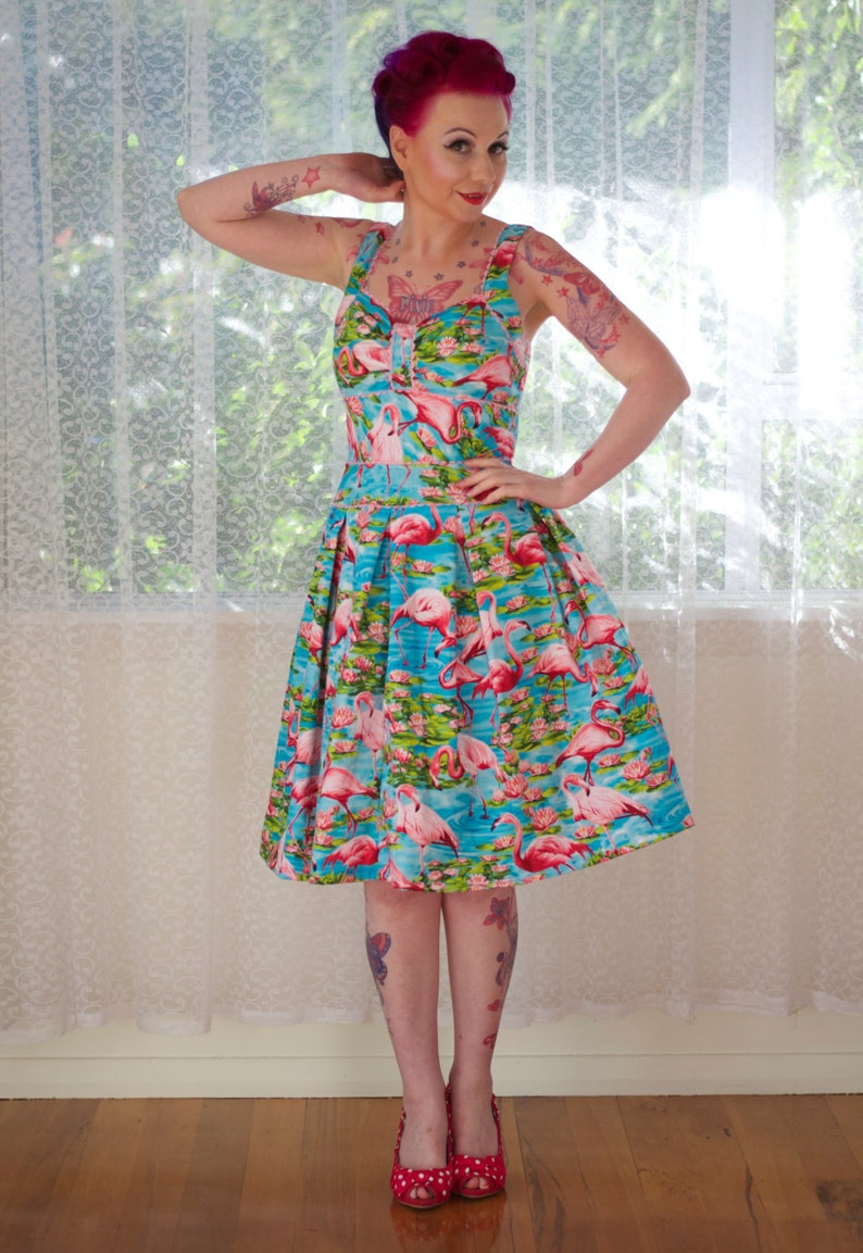 1950's Rockabilly Holly Dress with Pink image 0