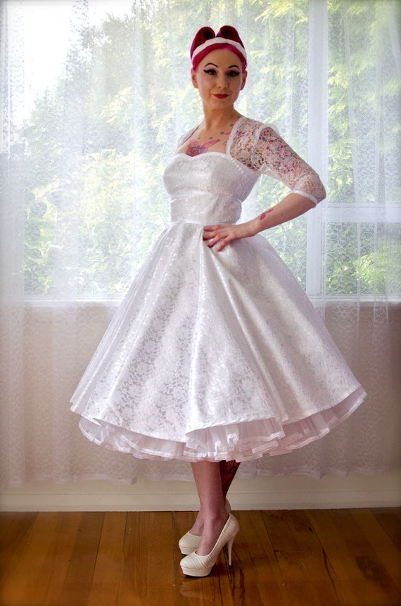 5b12d34cc9 1950 s Rockabilly LorilynWedding Dress with