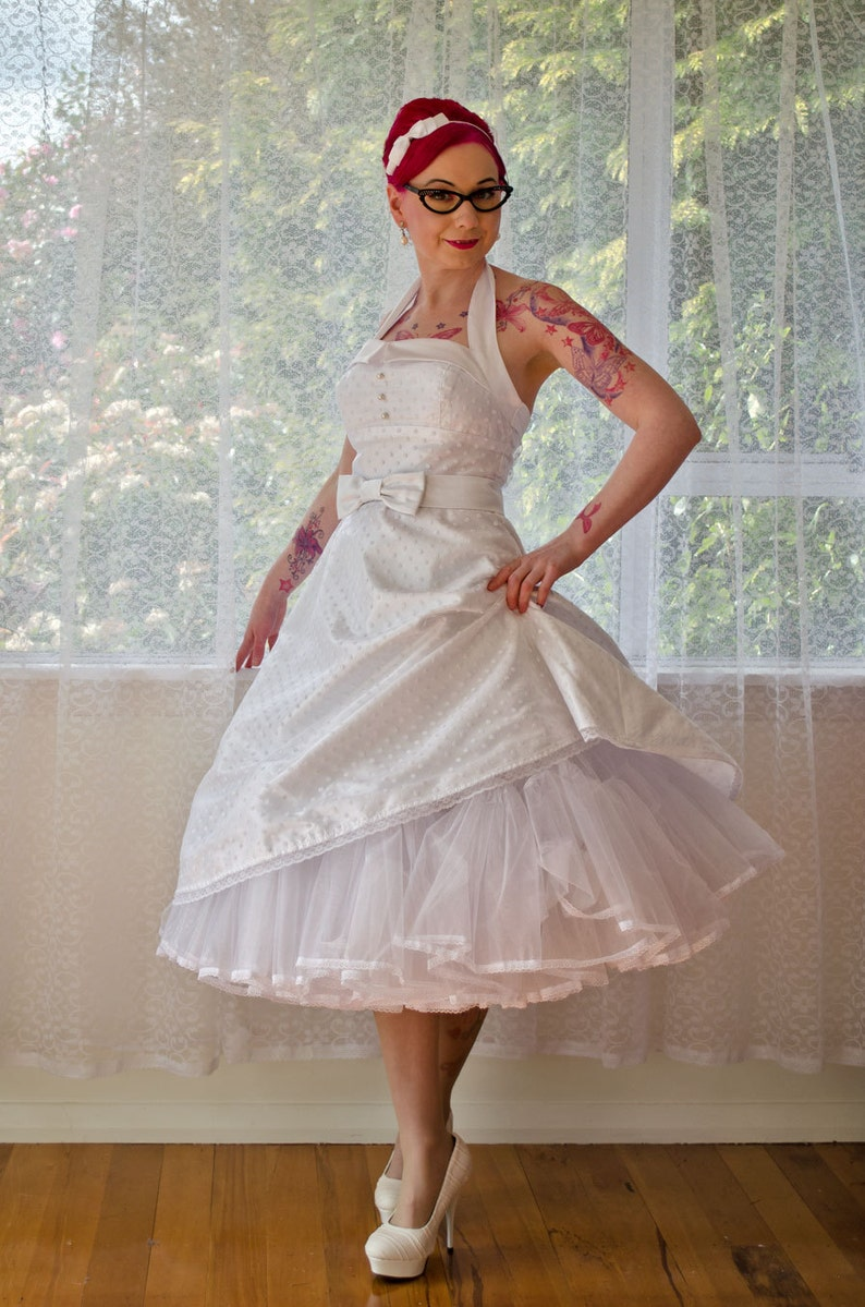 dcb7a77d14 1950 s Rockabilly  Glenda  Polka Dot Wedding Dress