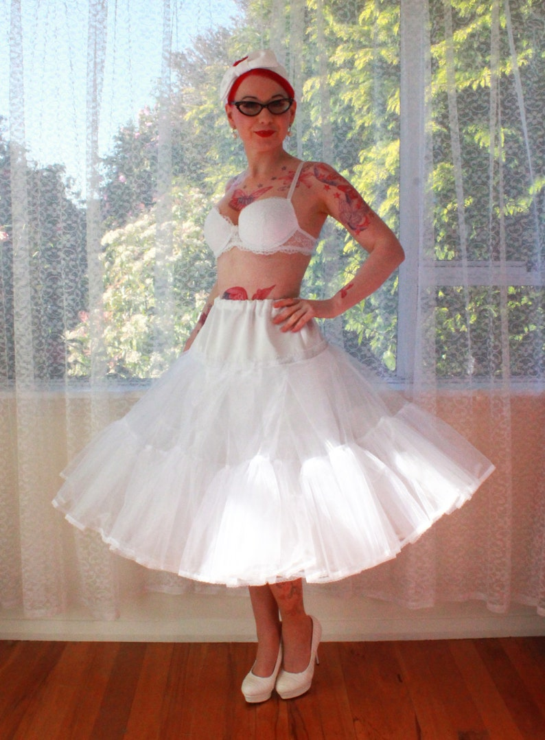 bc17770f670 1950s  Juliet  Rockabilly Wedding Dress Organza