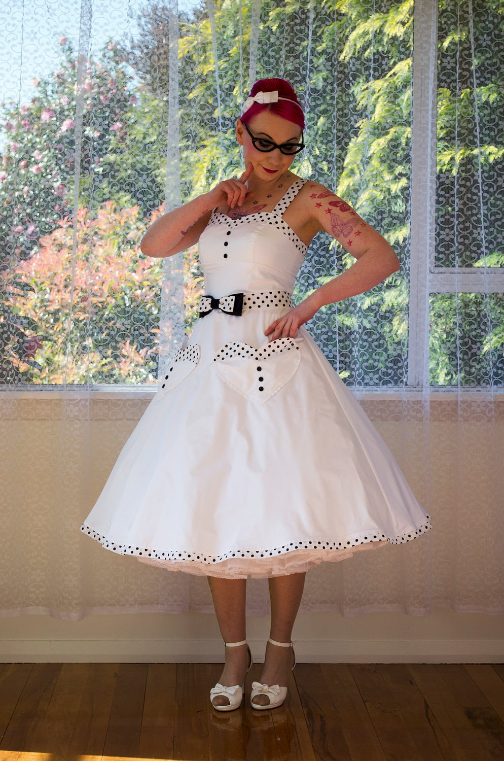 15feeb033c8 1950s Rockabilly  Elise  Wedding Dress with