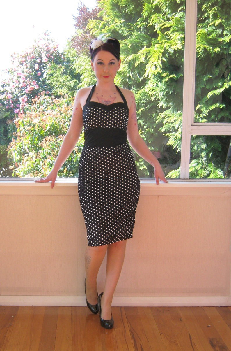 Polka Dot Dress 1950s Inspired Pin up Rockabilly with image 0