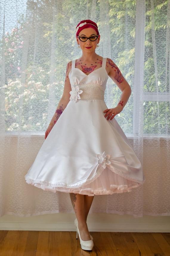 37e21ee1a7 1950s  Juliet  Rockabilly Wedding Dress Organza