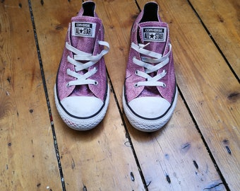 20f1938d69b8 Ladies vintage glitter converse size 3. 5 all star pink sneakers pumps  casual shoes classic unisex footwear womens Dolly Topsy Etsy UK