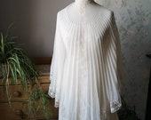 Vintage wedding dress 1970s maxi long dresses lace Cape bohemian festival clothing hippie fashion sustainable Dolly Topsy Etsy UK