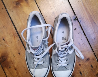 8a2b66d4e729ed Ladies vintage converse size 3. 5 all star grey sneakers lace up pumps  casual shoes classic unisex footwear mens womens Dolly Topsy Etsy UK