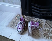 Ladies vintage leather converse size 3 all star pink sneakers pumps casual shoes classic unisex footwear womens Dolly Topsy Etsy UK