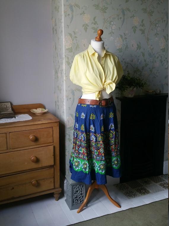 Primrose yellow 80s blouse