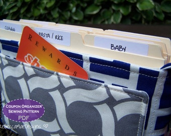 Quilted Coupon Organizer SEWING PATTERN - DiY PDF pattern for coupon holder