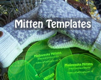 MITTEN PATTERN TEMPLATES - make mittens from upcycled felted wool sweaters sewing diy