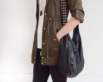 Veronica Mars Black Leather Bag - Large Detail