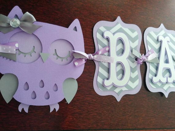 Owl Baby Shower Banner Its A Girl Banner Baby Banner Etsy