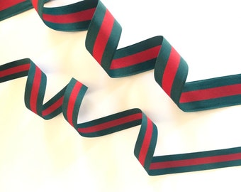 """Red and Green Christmas Ribbon, 5 Yards, Premium Grosgrain, 1 1/2 Inch or 7/8 Inch, for Gift Wrap, Sewing, Crafts, Made in USA, 1 1/2"""" 1.5"""""""