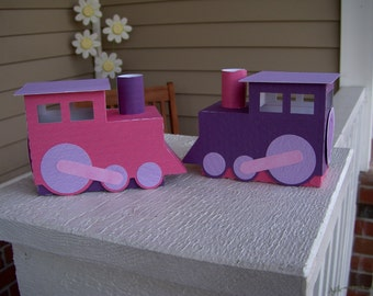 Girly Train Favor Box Set of 12 with Free Shipping