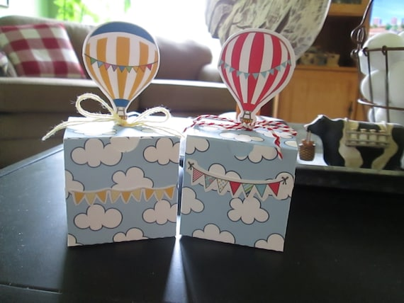 Colorful Hot Air Balloons Gable Boxes Set of 15 with Free Shipping