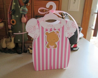 New Baby Girl Outfit Favor Box Set of 12 with Free Shipping
