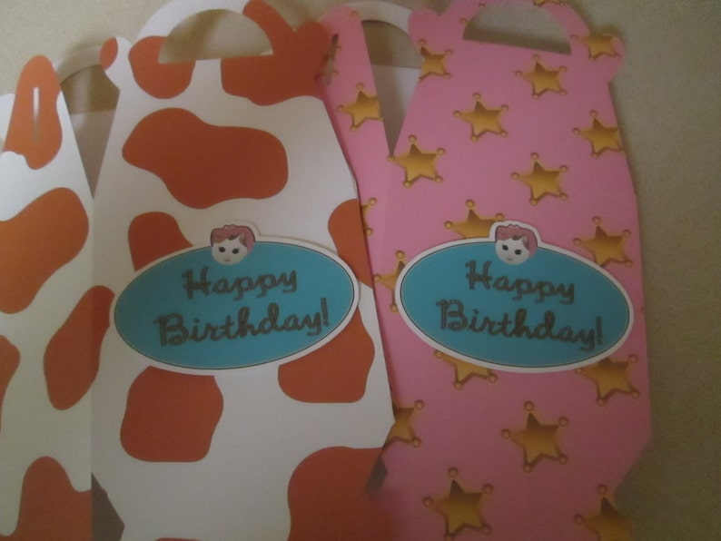 Sheriff Callie and Friends Inspired Large Gable Favor Boxes Set of 15 with Free Shipping