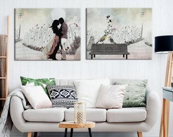 Collage Art Etsy