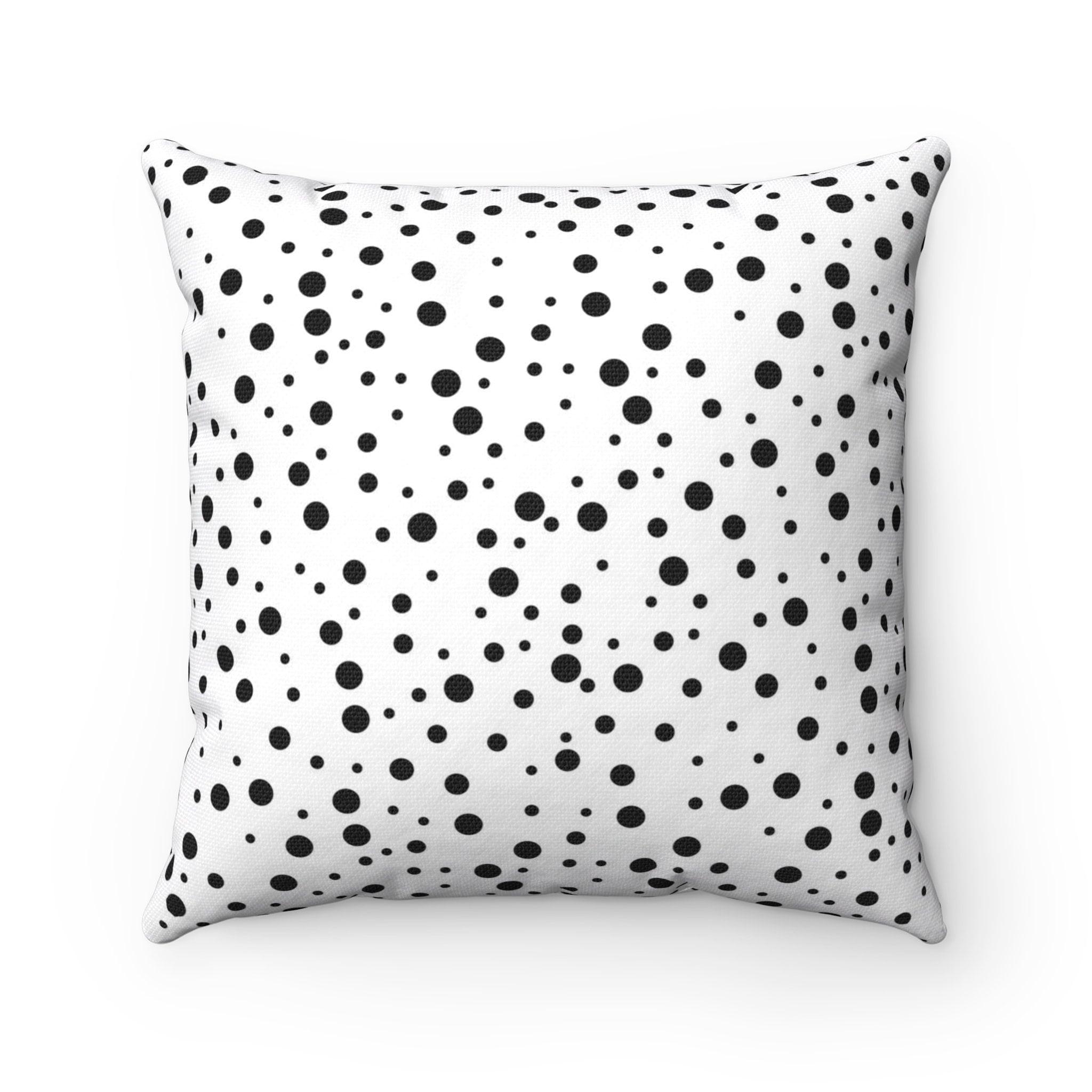 Dots Decorative Pillow Black White Pillow Throw Pillow Cover Modern Pillow 16x16 Pillow Cover Black And White Pillow Dots Pillow