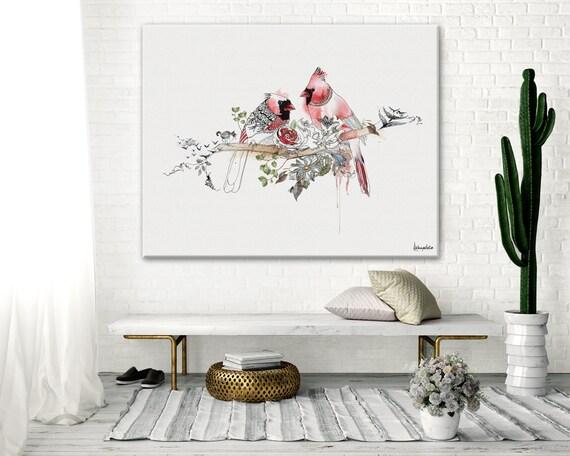 Rotes Schlafzimmer Kunst, Schlafzimmer Wandkunst, Wand Kunst Dekor  Schlafzimmer, rote Malerei, romantische Wandkunst, große Druck, Leinwand  Druck, ...