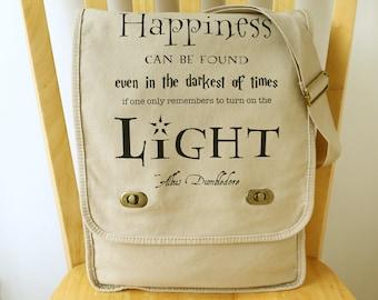 Harry Potter Messenger Bag Canvas Laptop Bag with Quote