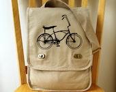 Vintage Bike Canvas Messenger Bag Schwinn Stingray Laptop Bag