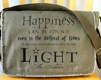 46e43571027a Harry Potter Quote Canvas Messenger Bag Laptop Bag Crossbody Bag