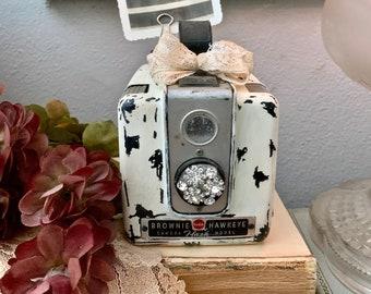 Altered Vintage Brownie Camera - Decorative Camera Display - Photo Prop - Vintage Accents - Vintage Decor - Altered Vintage - Camera - Gifts