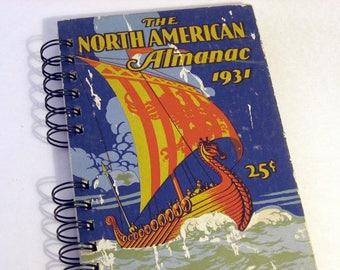 1931 VINTAGE ALMANAC Handmade Journal Vintage Upcycled Book Personal Journal