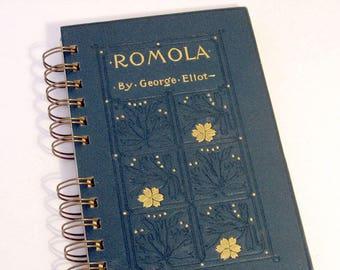 VINTAGE ROMOLA NOVEL Handmade Journal Vintage Upcycled Book Vintage George Eliot