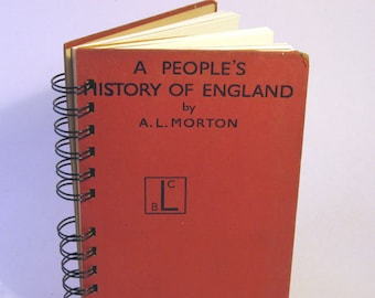 1938 HISTORY OF ENGLAND Handmade Journal Vintage Upcycled Book Vintage History Textbook
