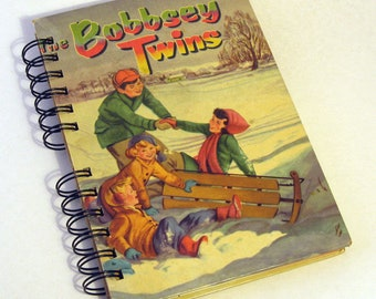 1950 BOBBSEY TWINS Handmade Journal/Vintage Upcycled Book Vintage Bobbsey Twins Mystery