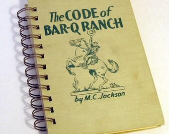 1946 VINTAGE COWBOY Handmade Journal Vintage Upcycled Book Gift for Cowboy