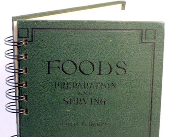 1925 VINTAGE COOK BOOK Handmade Journal Vintage Cook Book