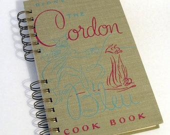 1947 CORDON BLEU COOKBOOK Handmade Journal Vintage Upcycled Book Gift for Cook