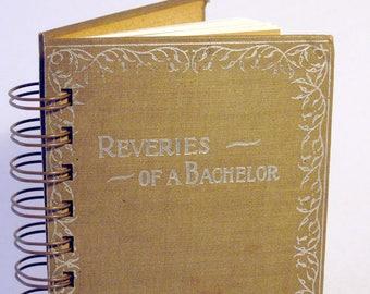 VINTAGE BACHELOR DIARY Handmade Journal Vintage Upcycled Book