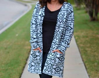 Womens Cardigan sewing pattern pdf, Claire Cardigan sewing pattern for women, seamingly smitten, open front long line cardigan pattern