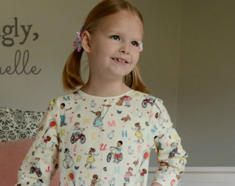 Girls Nightgown Sewing Pattern, PDF pattern nightgown pattern Baby Toddler Girls Nightgown Sewing Pattern instant download Seamingly Smitten