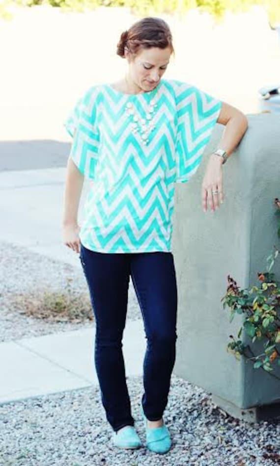 Lesley Flutter Top for Women sewing pattern batwing flutter