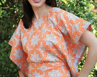 batwing top sewing pattern, womens shirt, shirt, top, halter top, Women's PDF sewing pattern