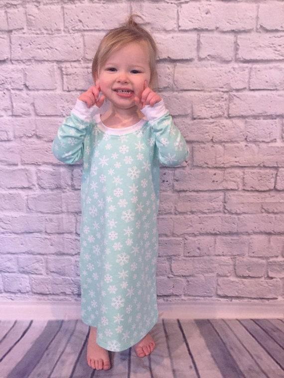 Girls knit nightgown pdf sewing pattern pajamas pdf sewing