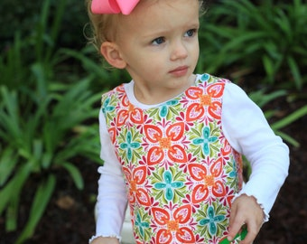Girls ALine Dress PDF sewing pattern Seamingly Smitten - reversible sheath dress pattern girls instant download, classic girls dress pattern