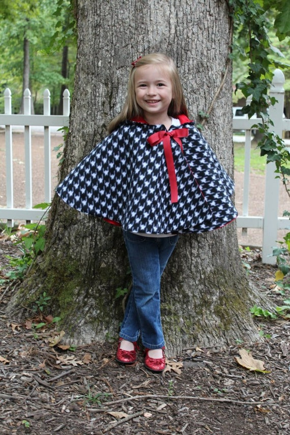 Cozy Hooded Cape pdf sewing pattern, cape sewing pattern PDF ...