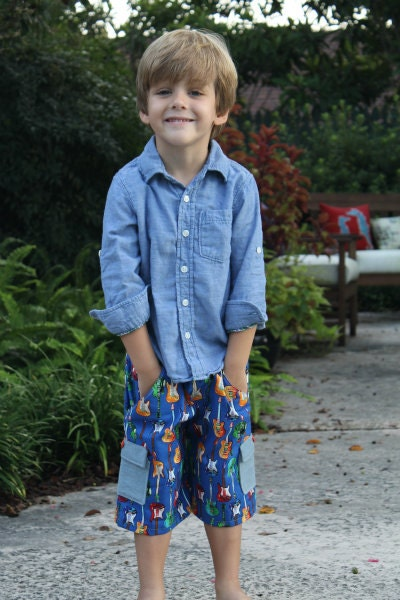 Classically Cool Living Rooms: Boys Classically Cool Cargo Shorts Sewing Pattern For Boys