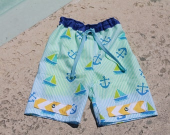 Boys Swim Suit PDF sewing pattern, swim trunks, swim trunks pattern, boys sewing patterns, swim, trunks, PDF pattern, boys swim suit